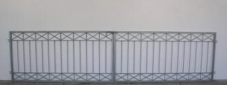Gartentor Hoftor Tor Metall modern Crossline-FT600/120 Rohling – Bild 7