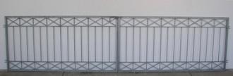 Gartentor Hoftor Tor Metall modern Crossline-FT600/120 Rohling – Bild 1