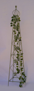 Rankstab Rankhilfe Rank Pfosten Obelisk Cornwall Grün – Bild 1