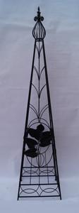 Rankstab Spalier Rankhilfe Obelisk FloraQueen3 Schwarz – Bild 1