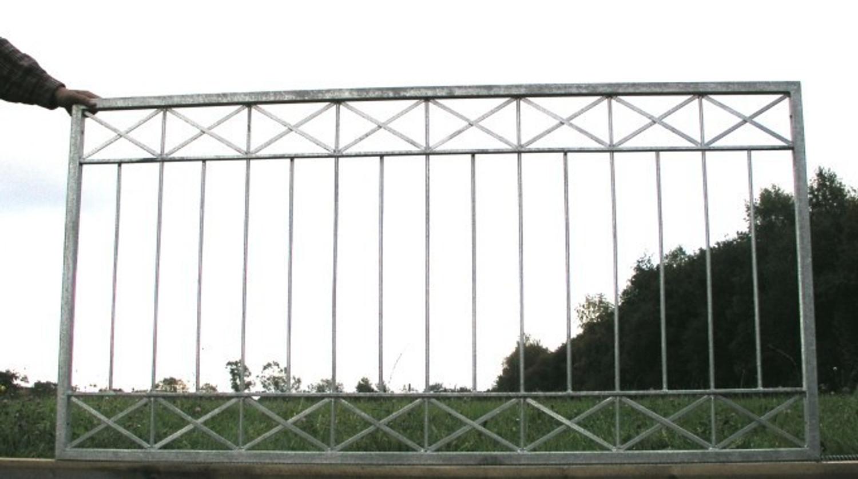 Eisen Zaun Zaune Balkon Crossline Z100 300 Verzinkt Zaune
