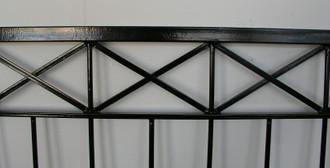 Eisen Zaun Zäune Balkon Crossline-Z100/300 Verzinkt – Bild 10
