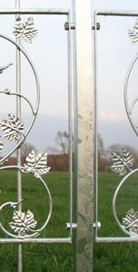 1 Meter Metallzaun Gartenzaun Schmiedeeisen Zäune Zaun Bachus-Z80/200  verzinkt – Bild 5