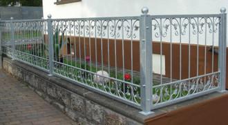 1 Meter Schmiedeeisen Metallzaun Gartenzaun Monaco-Z140/200 FeuerVerzinkt Zink – Bild 2