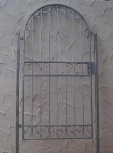 Rundbogen Gartentür Gartentor Tor Rundbogentür Monaco-RBGT 100/200S Schloss Set – Bild 2
