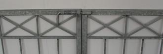 Gartentor Hoftor Tor Metall modern Crossline-FT600/140 Verzinkt  – Bild 3