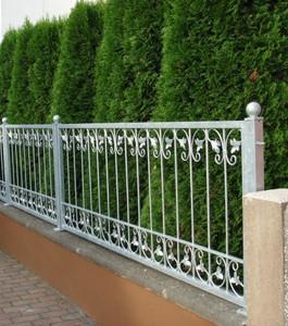 Schmiedeeisen Eisenzaun Zaun Metall Gartenzaun Zäune Monaco-Z120/200 verzinkt – Bild 6