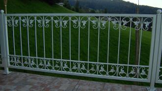 Schmiedeeisen Metallzaun Gartenzaun Monaco-Z140/300 Verzinkt – Bild 6