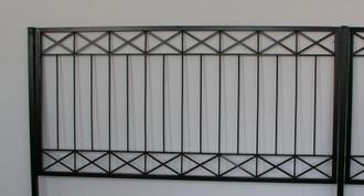Eisen Zaun Zäune Balkon Crossline-Z120/300 Verzinkt – Bild 4