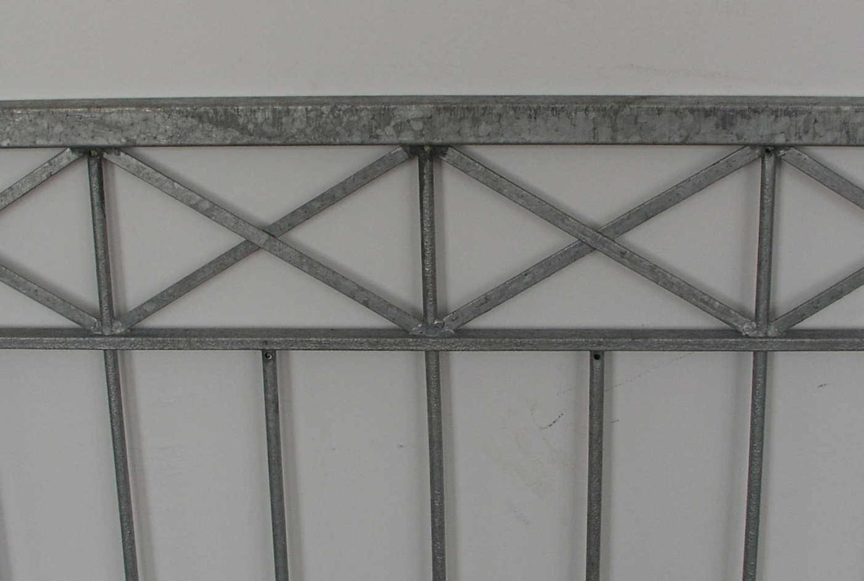 hoftor gartentor metall eisen crossline-ft300/100 zink einflügelig