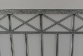 Hoftor Gartentor Metall Eisen Crossline-FT300/100 Zink einflügelig – Bild 5
