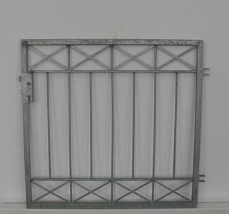 Hoftor Gartentor Metall Eisen Crossline-FT300/100 Zink einflügelig – Bild 1
