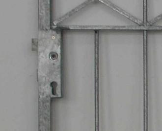 Hoftor Gartentor Metall Eisen Crossline-FT300/100 Zink einflügelig – Bild 4