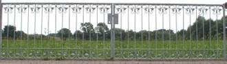 Gartentor Hoftor Metall Schmiedeeisen Monaco-FT600/100 Verzinkt 400-600 cm Flex – Bild 11