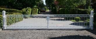 Gartentor Hoftor Metall Schmiedeeisen Monaco-FT600/100 Verzinkt 400-600 cm Flex – Bild 1
