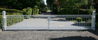 Gartentor Hoftor Metall Schmiedeeisen Monaco-FT600/120 Verzinkt 400-600 cm Flex – Bild 1