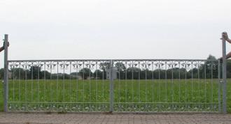 Gartentor Hoftor Metall Schmiedeeisen Monaco-FT600/140 Verzinkt 400-600 cm Flex – Bild 3