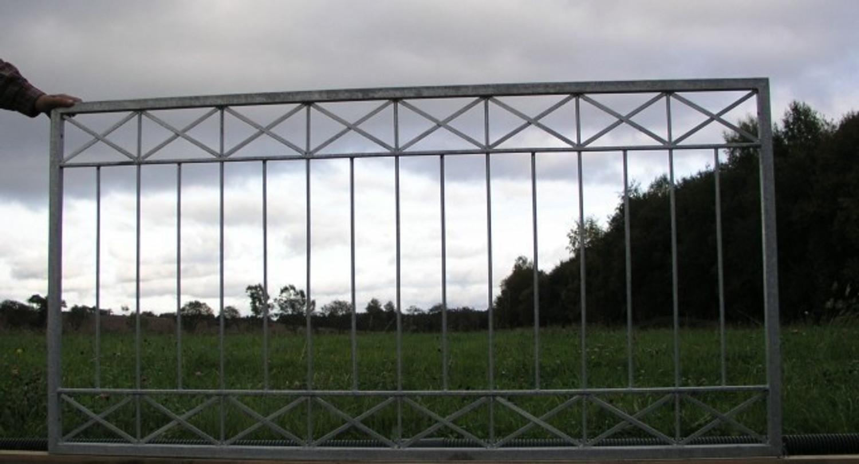 1 Meter Gartenzaun Zaune Zaunfeld Metallzaun Balkon Crossline Z100