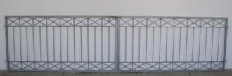Gartentor Hoftor Tor Metall modern Crossline-FT600/100 Feuer Verzinkt