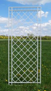 Metall Eisen Rankgitter Rankhilfe Wandgitter Meran 100 XXL verzinkt grau 240 cm hoch – Bild 1