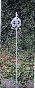 Rankstab Spalier Rankhilfe Rosenstab Obelisk Florio XL Weiss  – Bild 1