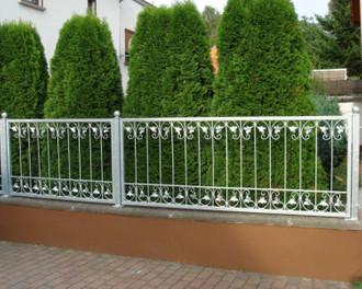 1 Meter Schmiedeeisen Eisen Metallzaun Gartenzaun Monaco-Z100/200 FeuerVerzinkt  – Bild 1