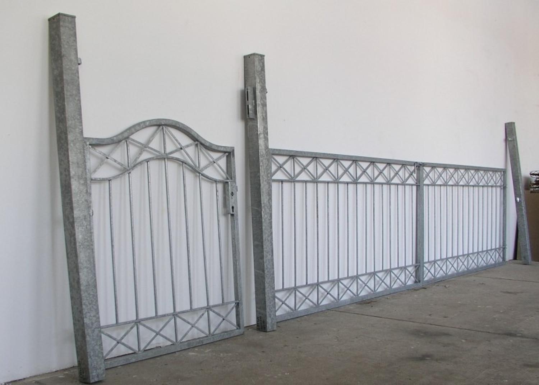 gartentor hoftor tor crossline gft500 100 verzinkt tore eingangsanlagen geradlinig breite 500cm. Black Bedroom Furniture Sets. Home Design Ideas