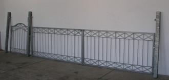 Gartentor Hoftor Tor Metall modern Crossline GFT500/100 Feuer Verzinkt – Bild 1