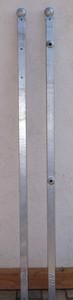 Stahl Pfostenset Pforte Monaco GT124/120 40 1500 Kugel roh/rost – Bild 1