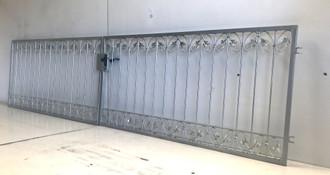 Gartentor Hoftor Metall Schmiedeeisen Tor Monaco-FT400/100S Verzinkt – Bild 1