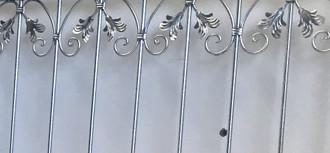 Gartentor Hoftor Metall Schmiedeeisen Tor Monaco-FT400/100S Verzinkt – Bild 3