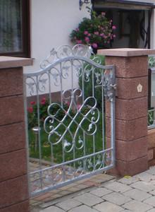 Gartentür Gartentor  Tor Pforte Monaco-GT100/120S Pset Schmiedeeisen Verzinkt    ca. 120 cm Breite – Bild 6