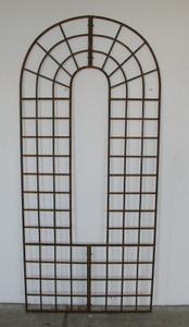 Rankgitter Spalier Rankwand Rankhilfe Quattro Roh/Rost Freistehend Wand
