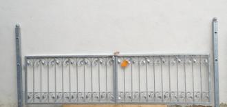 Gartentor Hoftor Tor Schmiedeeisen Monaco-FT300/100R Riegel Verzinkt – Bild 1