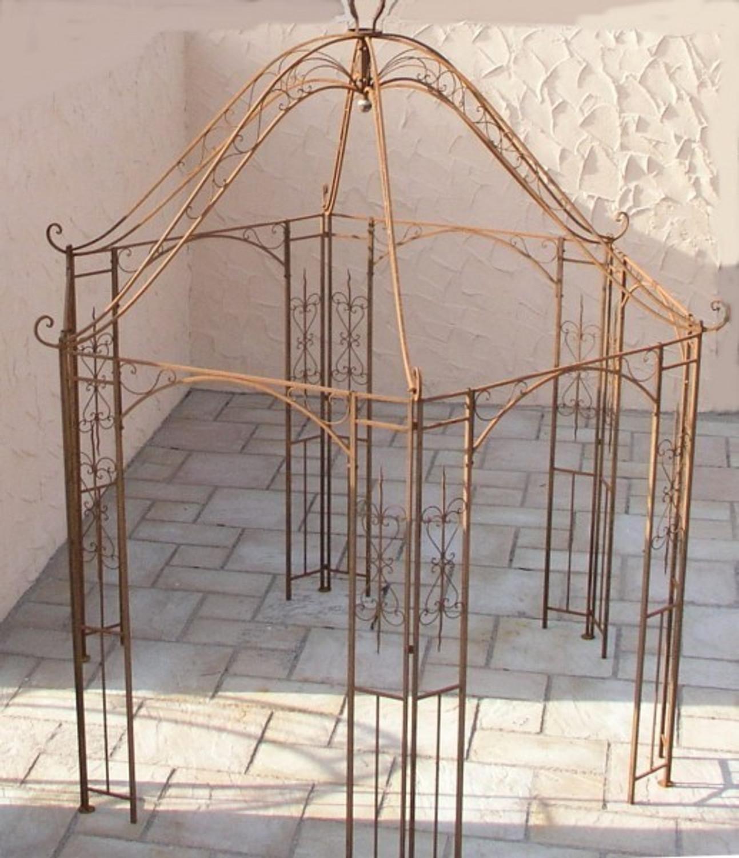 pavillion metall pavillon pavilion laube schmiedeeisen romanco verzinkt schwarz gartengestaltung. Black Bedroom Furniture Sets. Home Design Ideas