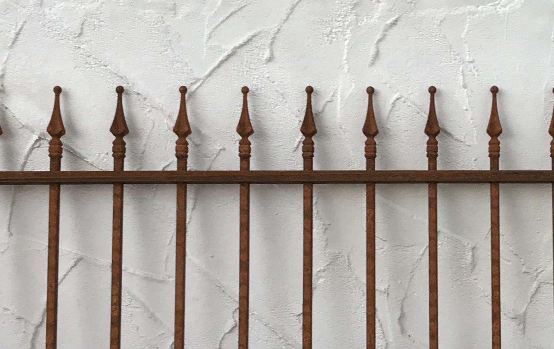 Schmiedeeisen Gartenzaun Zaun Metall Limone Z80 191 Rost Antik