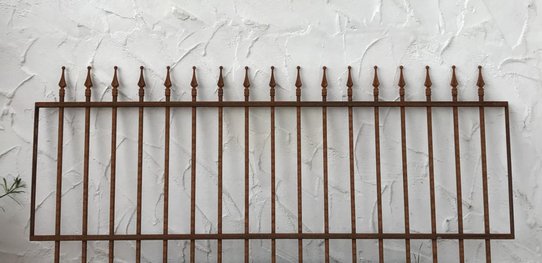 Schmiedeeisen Gartenzaun Zaun Metall Limone Z80 191 Rost Antik Zaune