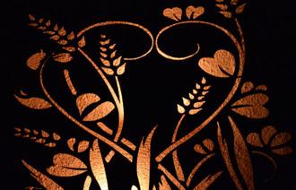 Wandleuchte Wanddeko Wandlicht Wandbild Estali Rost Natur Romantisch – Bild 5