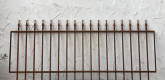 Schmiedeeisen Gartenzaun Zaun Metall Limone-Z100/191  Rost Antik – Bild 1