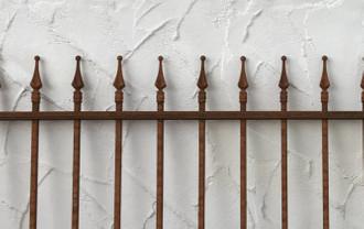 Schmiedeeisen Gartenzaun Zaun Metall Limone-Z100/191  Rost Antik – Bild 2
