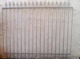Gartenzaun Zaun Metall Metallzaun Limone-Z160/191-I  Verzinkt – Bild 1