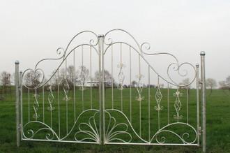 Traumhaft Gartentür Gartentor Tor Vitoria-GT300 schwarz mit Pfosten 2. Wahl – Bild 2
