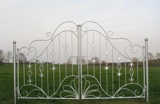 Traumhaft Gartentür Gartentor Tor Vitoria-GT300 roh rost mit Pfosten – Bild 1