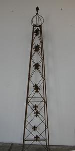 Rankstab Rankhilfe Rank Pfosten Obelisk Cornwall Rost – Bild 1