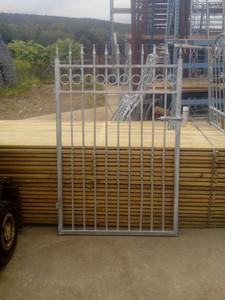 Gartentür Gartentor Pforte Siena-FT200/170R Zink weiss