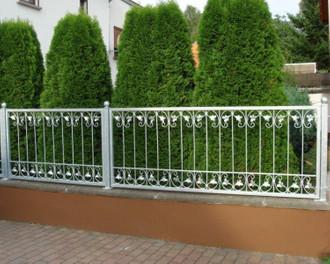 Eingangsanlage Gartentor Hoftor Tor Metall Schmiedeeisen Monaco-GFT500/120 Verzinkt PREMIUM  – Bild 6