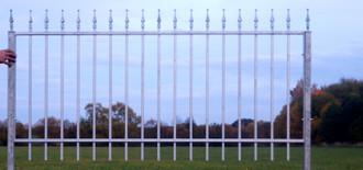 Gartenzaun Zaun Metall Metallzaun Limone-Z100/191-I  Verzinkt – Bild 1