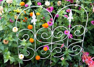 Beeteinfassung BeetZaun Rasenkante Zaun Barcelona weiss 65 x 81 cm weiss 5-er Set – Bild 1