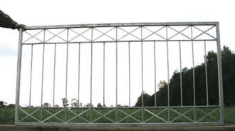 1 Meter Gartenzaun Zäune Zaunfeld Metallzaun Balkon Crossline-Z120/200 verzinkt – Bild 4