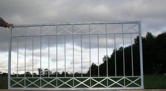 1 Meter Gartenzaun Zäune Zaunfeld Metallzaun Balkon Crossline-Z120/200 verzinkt – Bild 5